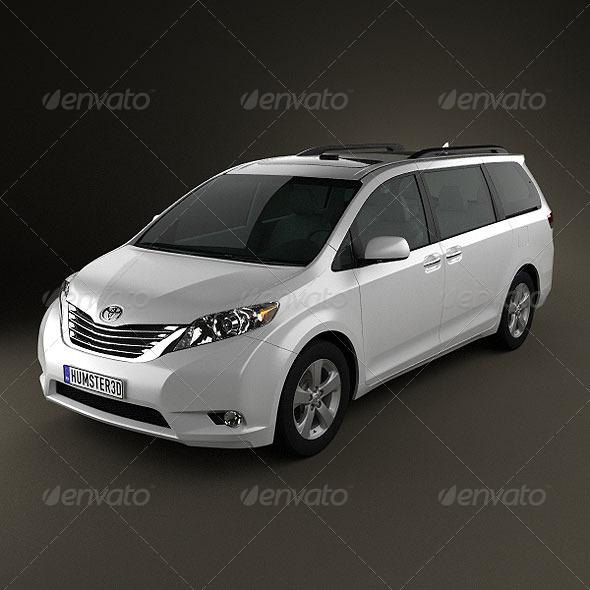 Toyota Sienna 2011. Toyota Sienna 2011 - 3DOcean