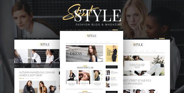 Street Style - Fashion & Lifestyle Personal Blog WordPress Theme by ...