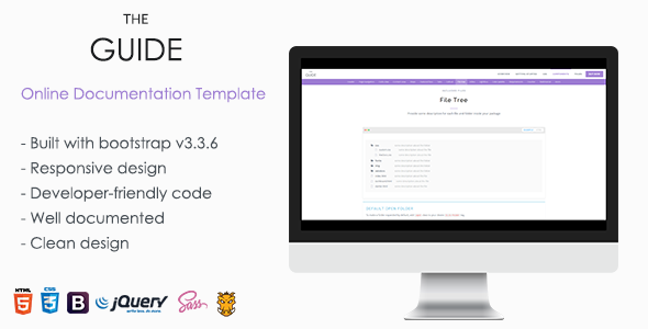 TheGuide Online Documentation Template By TheThemeio ThemeForest - Online documentation template