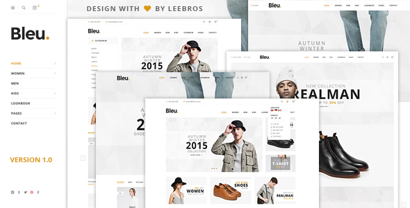 Download Bleu - Responsive eCommerce HTML5 Template HTML Template