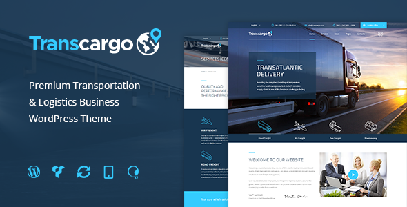 convert html template to wordpress theme online - transcargo transport wordpress theme for transportation