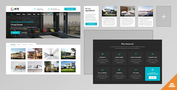 Hnk architecture business wordpress theme by linethemes for Architecture wordpress