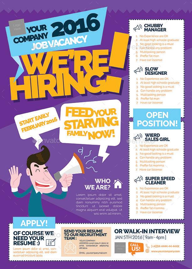 Recruitment poster templates