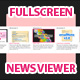 Expanding Full Screen News Viewer