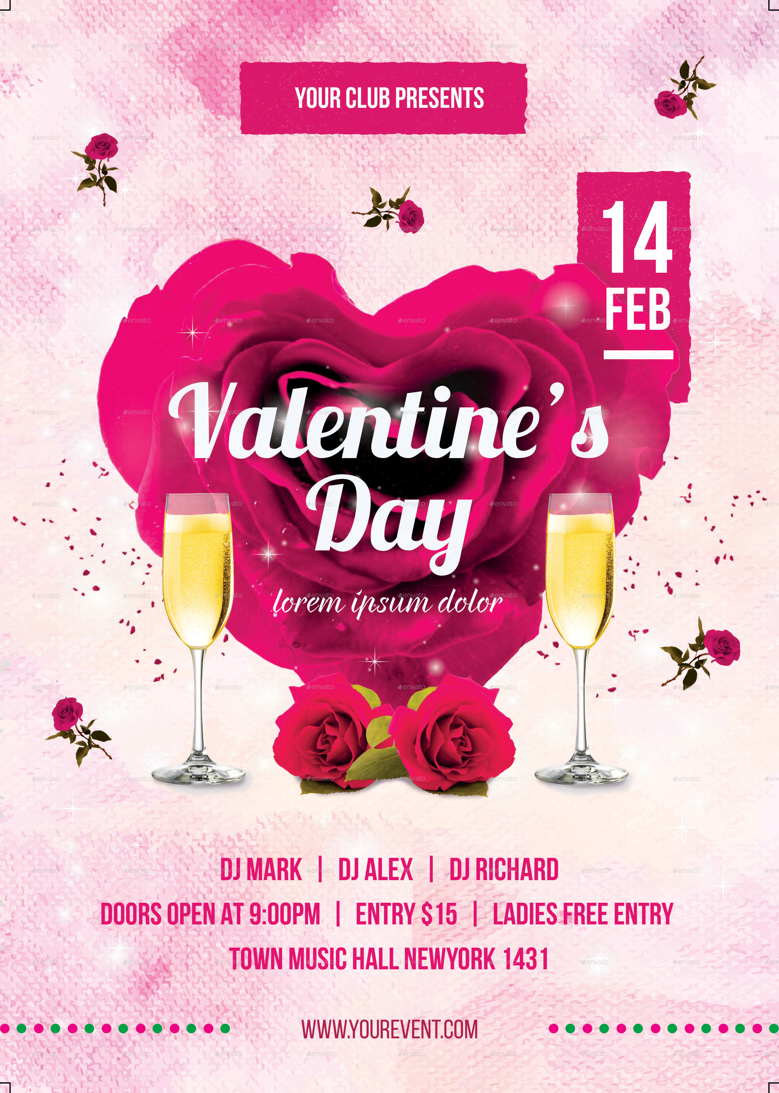 Valentine Day Party Flyer by infinite78910   GraphicRiver