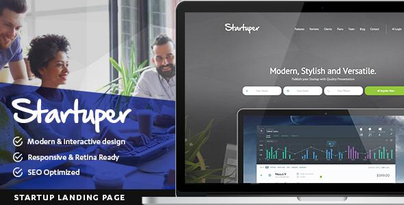Startuper - Startup Landing Page by DotRex | ThemeForest