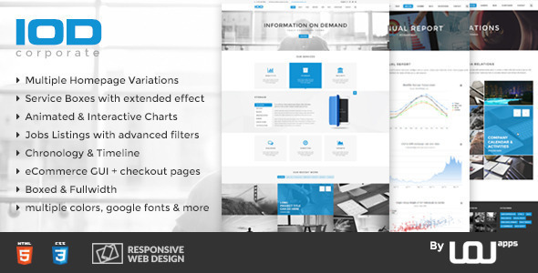 IOD - Corporate HTML Template by uouapps | ThemeForest