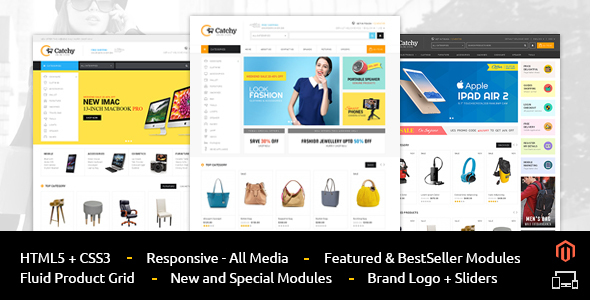 Catchy - Multipurpose Magento Theme by TemplateMela | ThemeForest