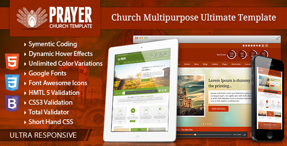 Prayer - Church Responsive Site Template by CrunchPress   ThemeForest