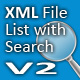 XML File List with Search V2  - FlashDen Item for Sale