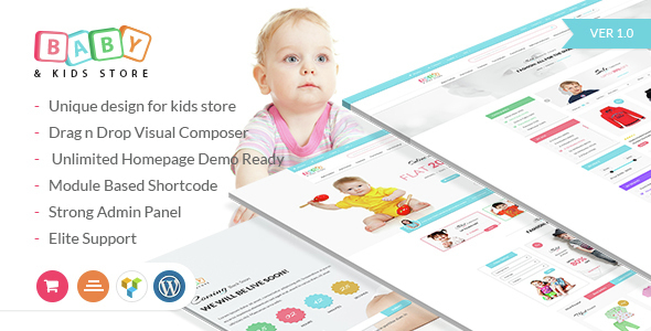 Baby & Kids Store eCommerce Woocommerce WordPress Theme by Jthemes
