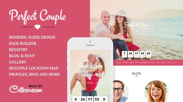 Perfect Couple - Wedding WordPress Theme by Coffeecream | ThemeForest