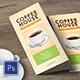 Coffee Trifold Menu-Graphicriver中文最全的素材分享平台