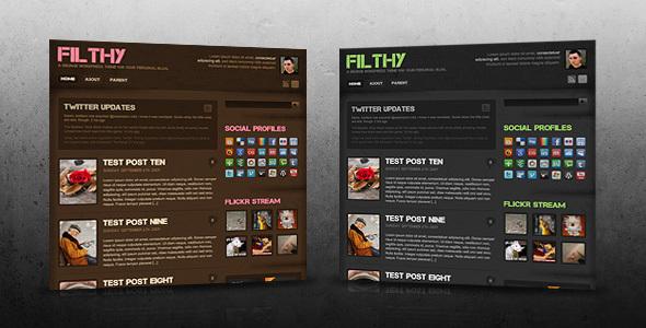 Theme forest: Filthy – WordPress Theme