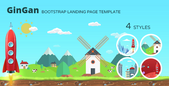 GinGan Bootstrap Landing Page Template By Responsiveexperts - Bootstrap landing page template
