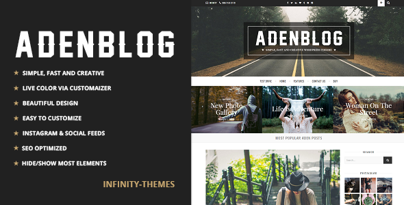 Aden - A WordPress Blog Theme by Infinity-Themes | ThemeForest