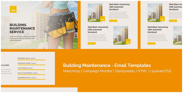 Corporate Building Maintenance Responsive Email Templates By - Build responsive email template