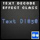 Text Decode Effect Class