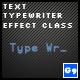 Text Typewriter Effect Class