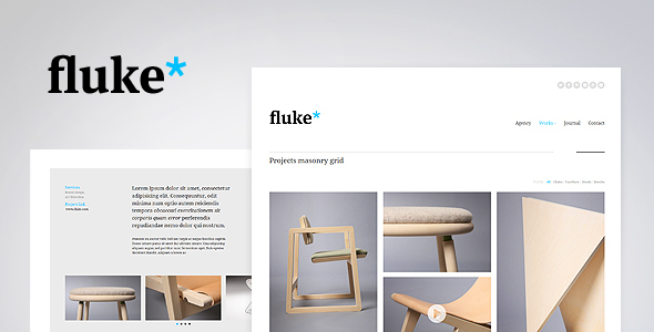 fluke responsive creative portfolio template by pezflash themeforest. Black Bedroom Furniture Sets. Home Design Ideas