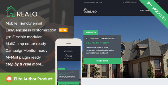 Realo, Real Estate Email Template + Builder Access by saputrad ...