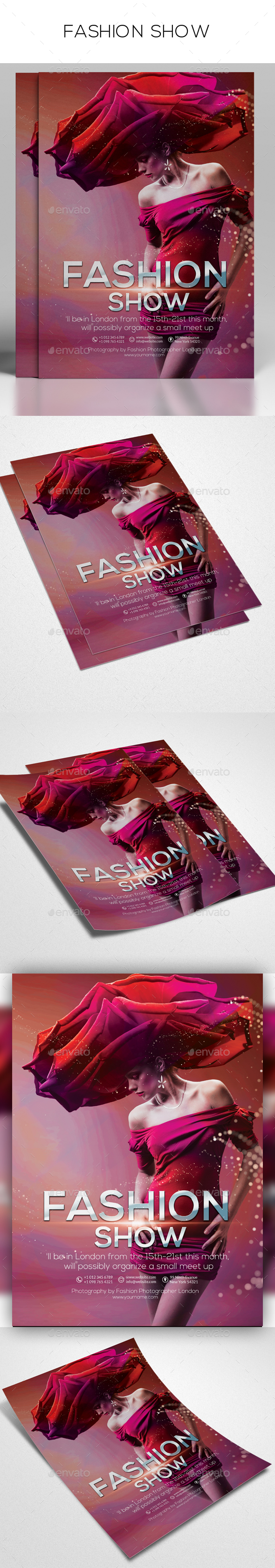 Fashion show flyer templates 35