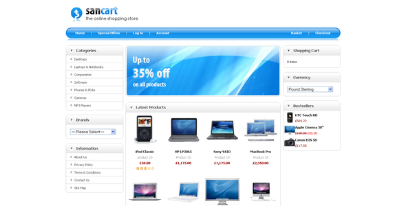 Sancart Opencart Template professional website template