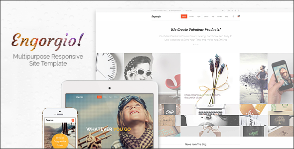 Engorgio | Web Design Agency Responsive Site Template by ThemeMakers