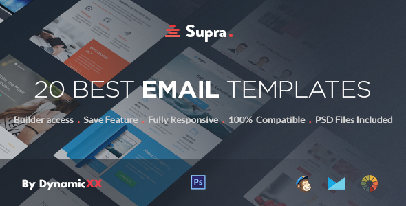 Supra - Pack of 20 Templates + Online Template Builder by DynamicXX