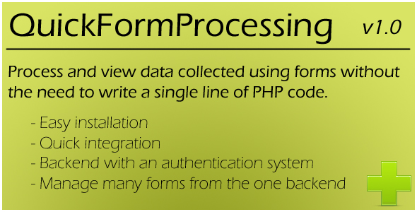 [CodeCanyon] Quick Form Processing