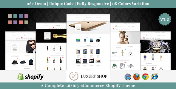 Luxury shop responsive shopify theme by webstrot themeforest pronofoot35fo Images