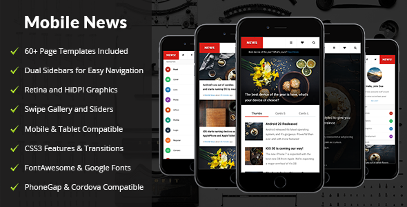 news mobile mobile template by enabled themeforest
