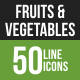 Fruits & Vegetables Lin-Graphicriver中文最全的素材分享平台