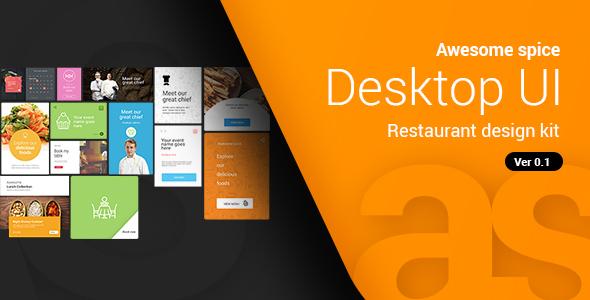Awesome E Desktop Ui Kit Sketch Templates
