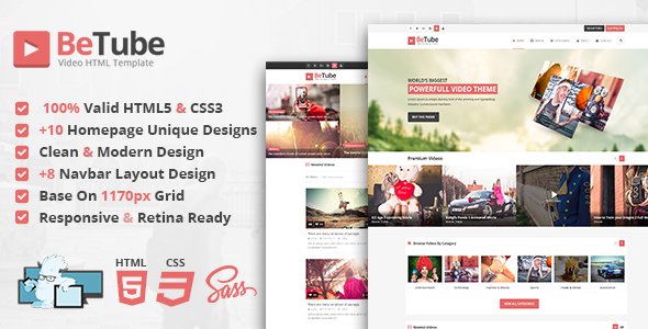 Betube Video HTML Template by JoinWebs | ThemeForest