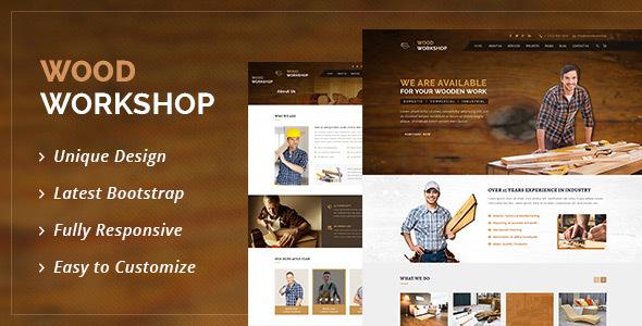 Wood Workshop - Carpenter and Craftman HTML Template by DesignArc ...