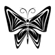 Butterfly tattoo in tribal style