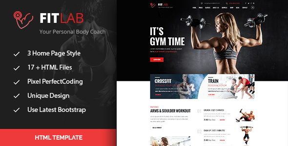 Fitlab sports health gym fitness html template by for Free gym layout design