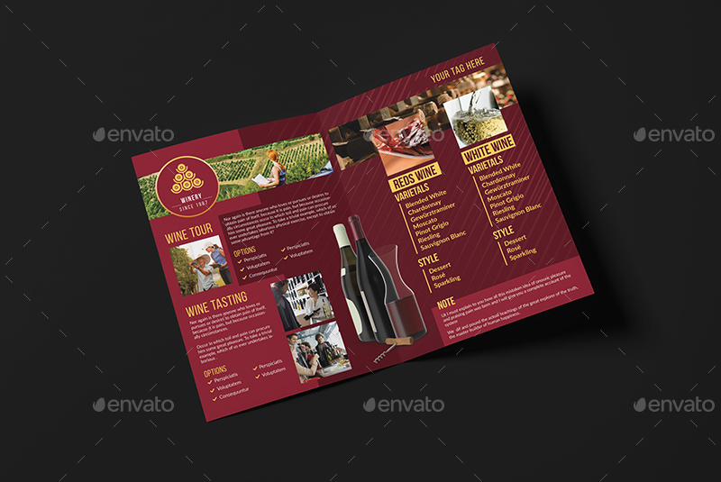 Wine Brochure Template Vector Free Download Oukasfo