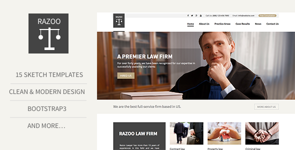 Trust Lawyer Attorney Business Sketch Template By ThemeAmber - Attorney templates