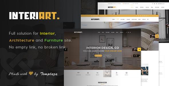InteriArt Furniture Interior Joomla Template by templaza