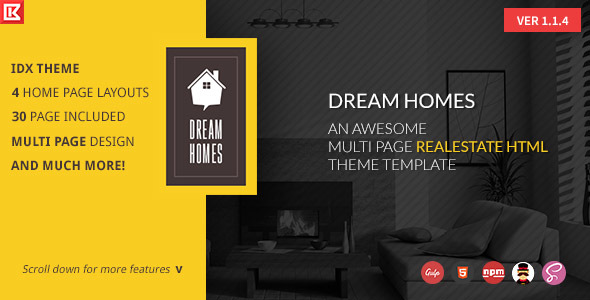 dream home multipage realestate html template by 0effortthemes