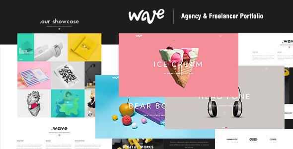 Wave agency freelancer portfolio by themezinho themeforest wave agency freelancer portfolio creative site templates maxwellsz