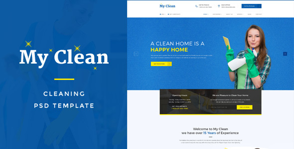 Myclean cleaning company psd template by victorthemesnx themeforest myclean cleaning company psd template business corporate flashek Choice Image