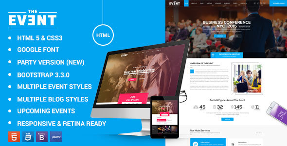 TheEvent - Conference Event Management by kodeforest   ThemeForest