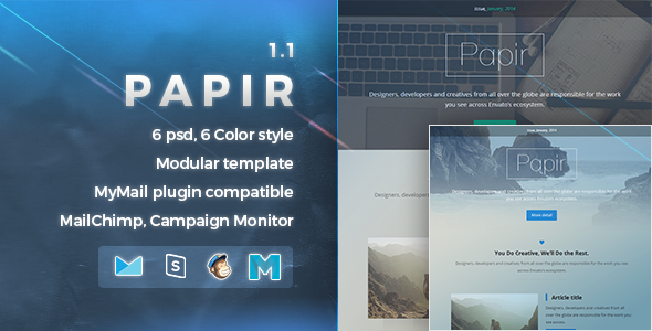 Papir | Responsive Email Template by nutzumi | ThemeForest