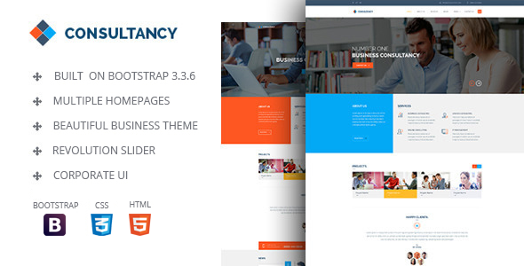 Consultancy - HTML Bootstrap Template by jyostna | ThemeForest