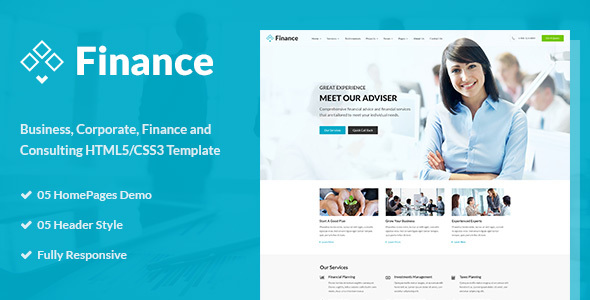 Finance - Business & Financial HTML5 Template by ThemeModern ...