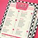 Retro Diner Menu-Graphicriver中文最全的素材分享平台