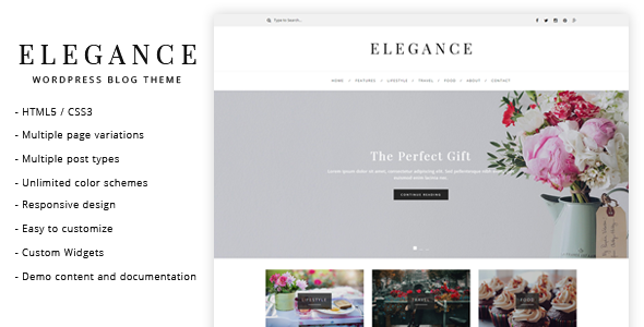 elegance wordpress blog theme by lucidthemes themeforest. Black Bedroom Furniture Sets. Home Design Ideas